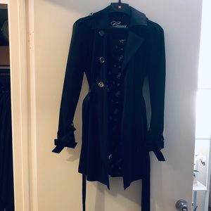 Guess black trench coat